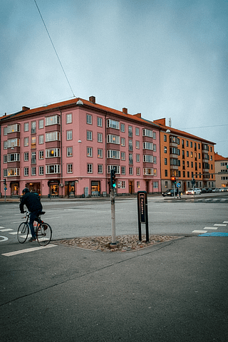 Colourful buildings in Malmo. Things to do in Copenhagen.