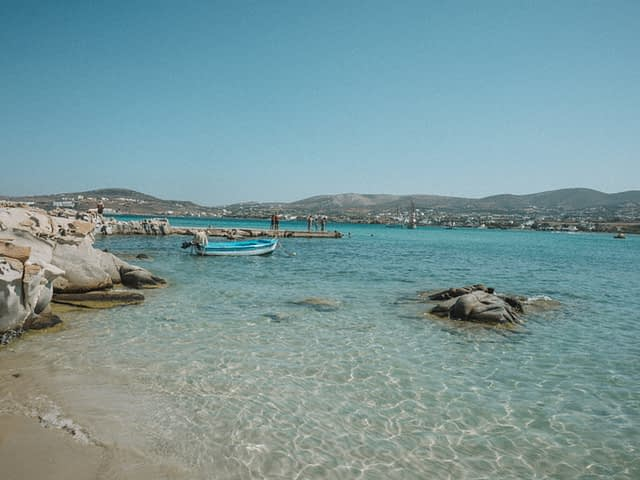 Kolymbithres beach with turquoise water