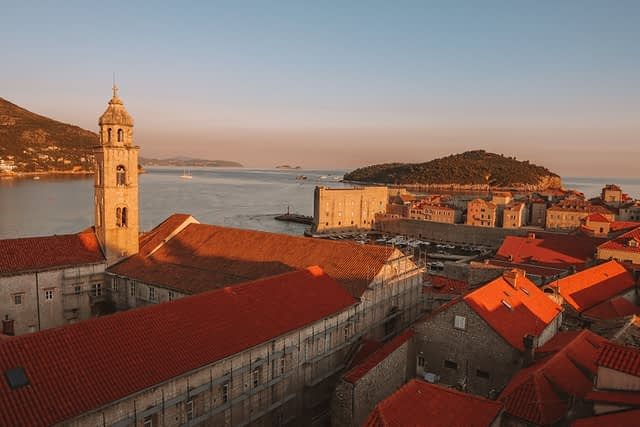 A view of Lokrum and the old town. Things to do in Dubrovnik