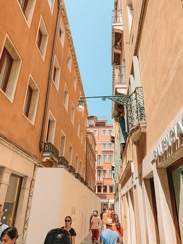 A narrow side street in Venice