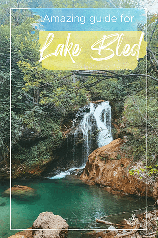 Vintgar Gorge waterfall with lots of greenery nearby. What to do at Lake Bled