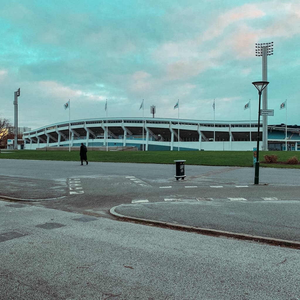 A football stadium where Malmo play, part of things to do in Malmo.