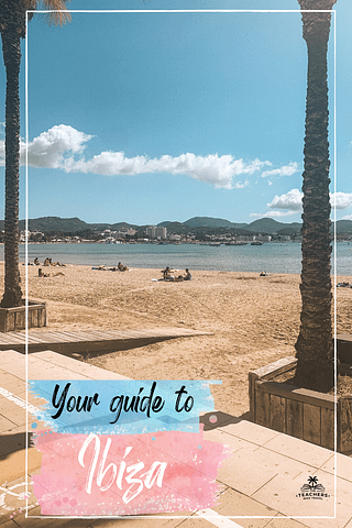 Promenade in San Antonio where you can see the ocean. What to do in Ibiza on a budget.