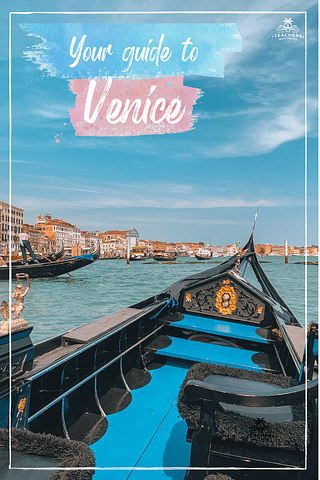 A gondola in the sea in Venice. Things to do in Venice