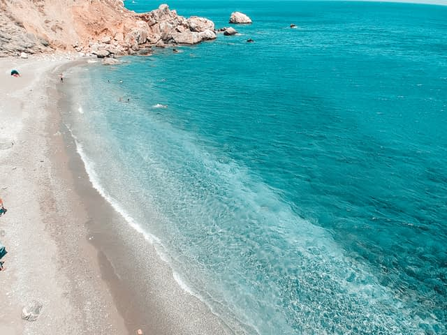 Katergo beach from above. Things to do in Folegandros