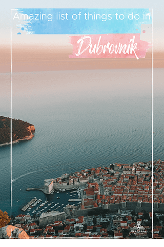 A view of Dubrovnik and Lokrum during sunset