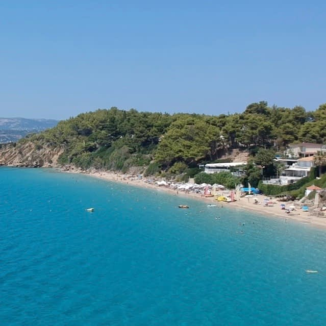 A beach in Lassi, as part of the Lassi, Kefalonia guide.
