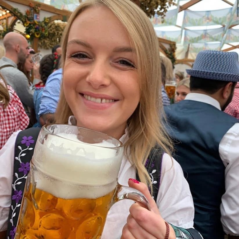 A woman in a drindl outfit - what to do at oktoberfest