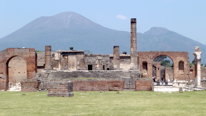 Ancient ruins of Pompeii.
