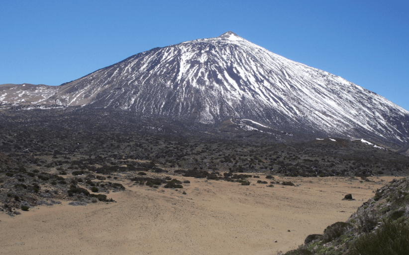Mount Teide, which is a volcanic mountain in Tenerife.