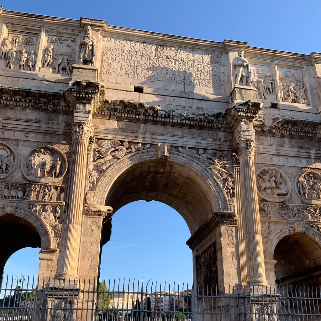 Arch of Constantine. Things to do if you have a Day in Rome.