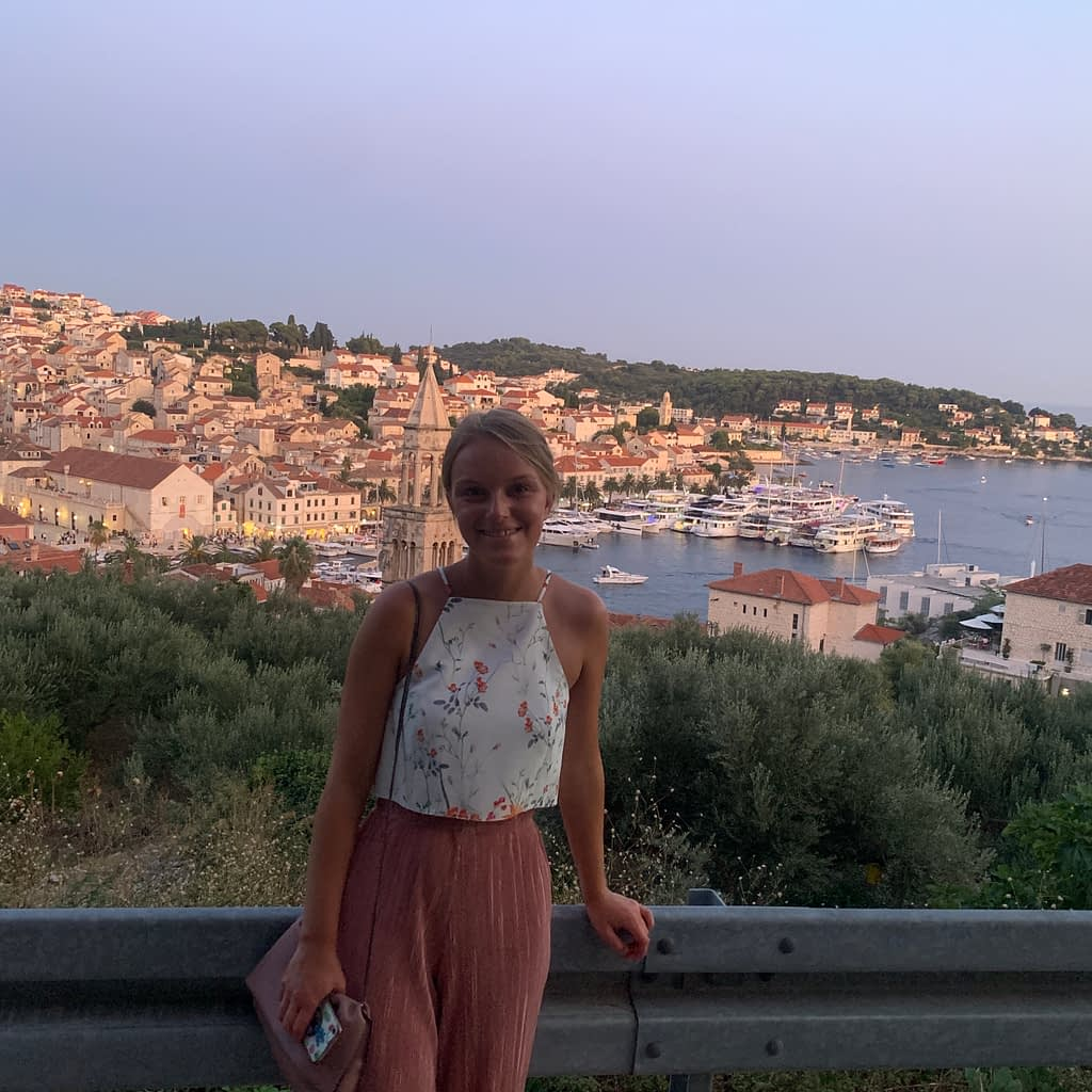 A viewpoint of Hvar town as part of the things to do in Hvar.
