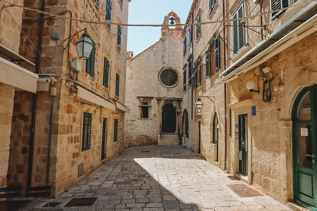 A street in Dubrovnik old town. Things to do in Dubrovnik