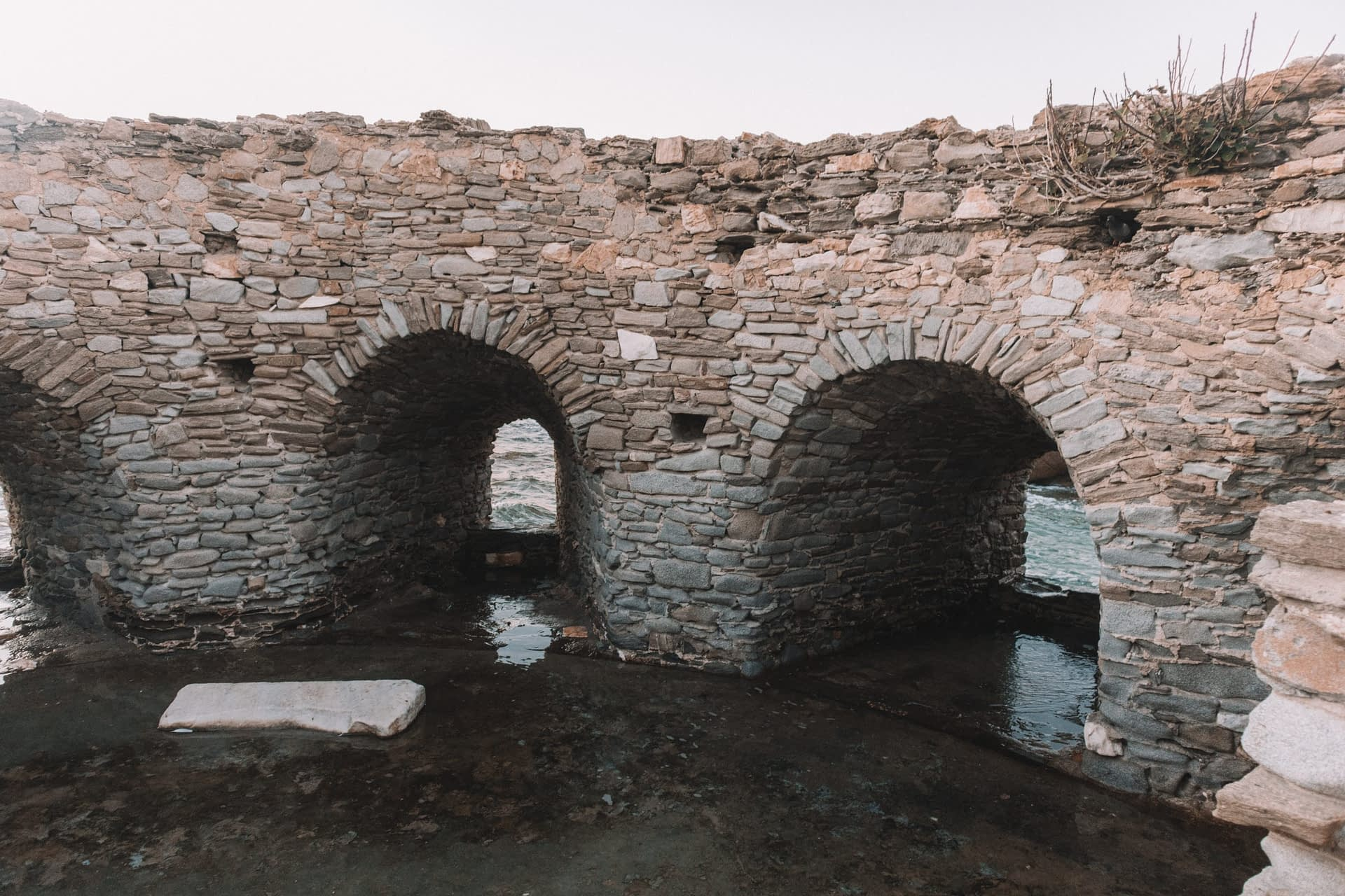 Inside the venetian castle in Naoussa. Things to do in Paros