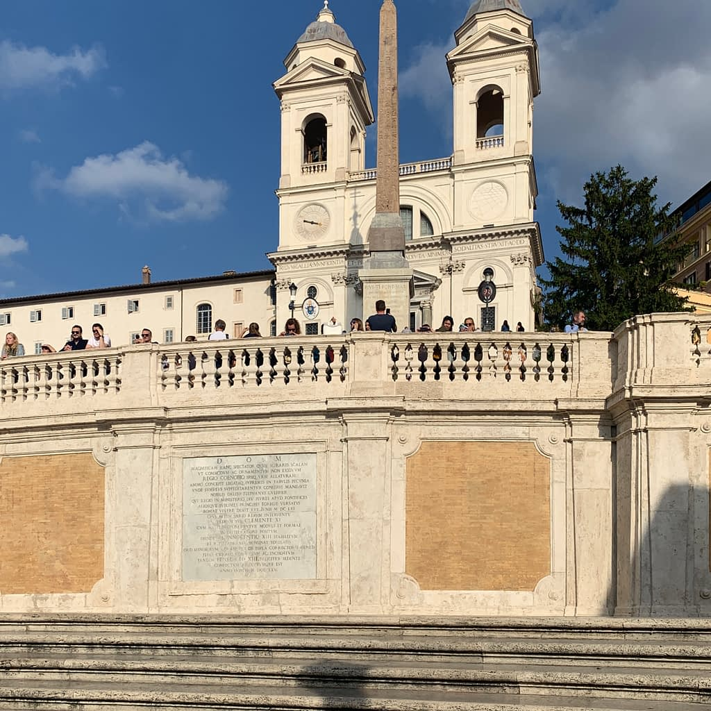 The Spanish steps. Things to do when spending 3 days in Rome.