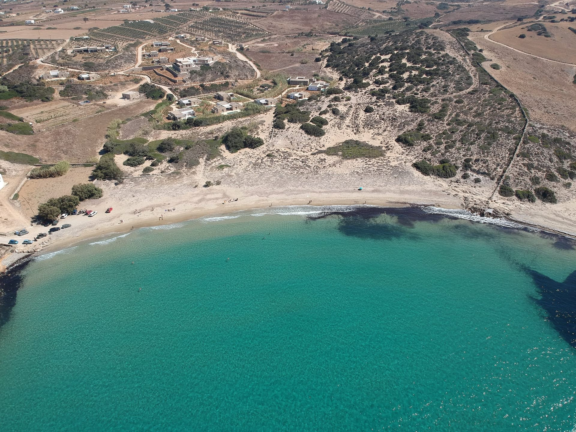 Livadia beach from above. Things to do in Antiparos