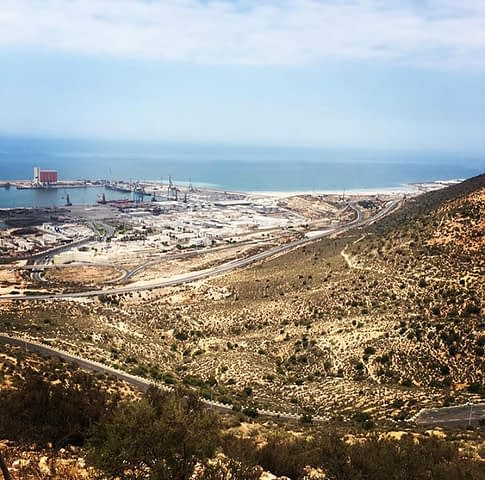 A viewpoint of Agadir. Morocco travel guide.