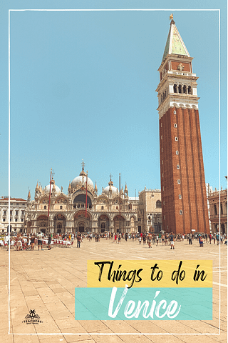 Campanile di San Marco from San Marco square. Things to do in Venice