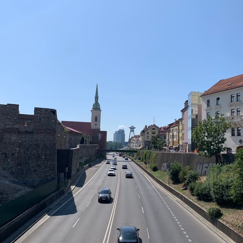 A viewpoint of the city of Bratislava