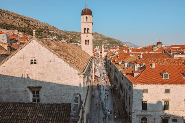 A view of Dubrovnik old town. What to do