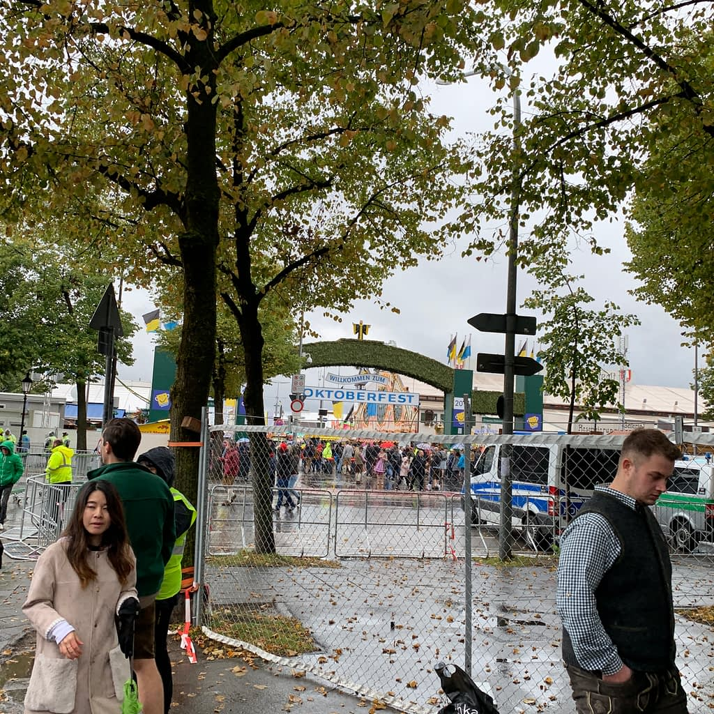 Part of what to do at Oktoberfest, the entrance.