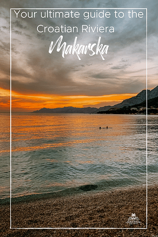 A couple in the sea during the sunset. Things to do in Makarska