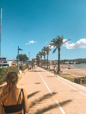 Promenade in San Antonio. Things to do in Ibiza on a budget.
